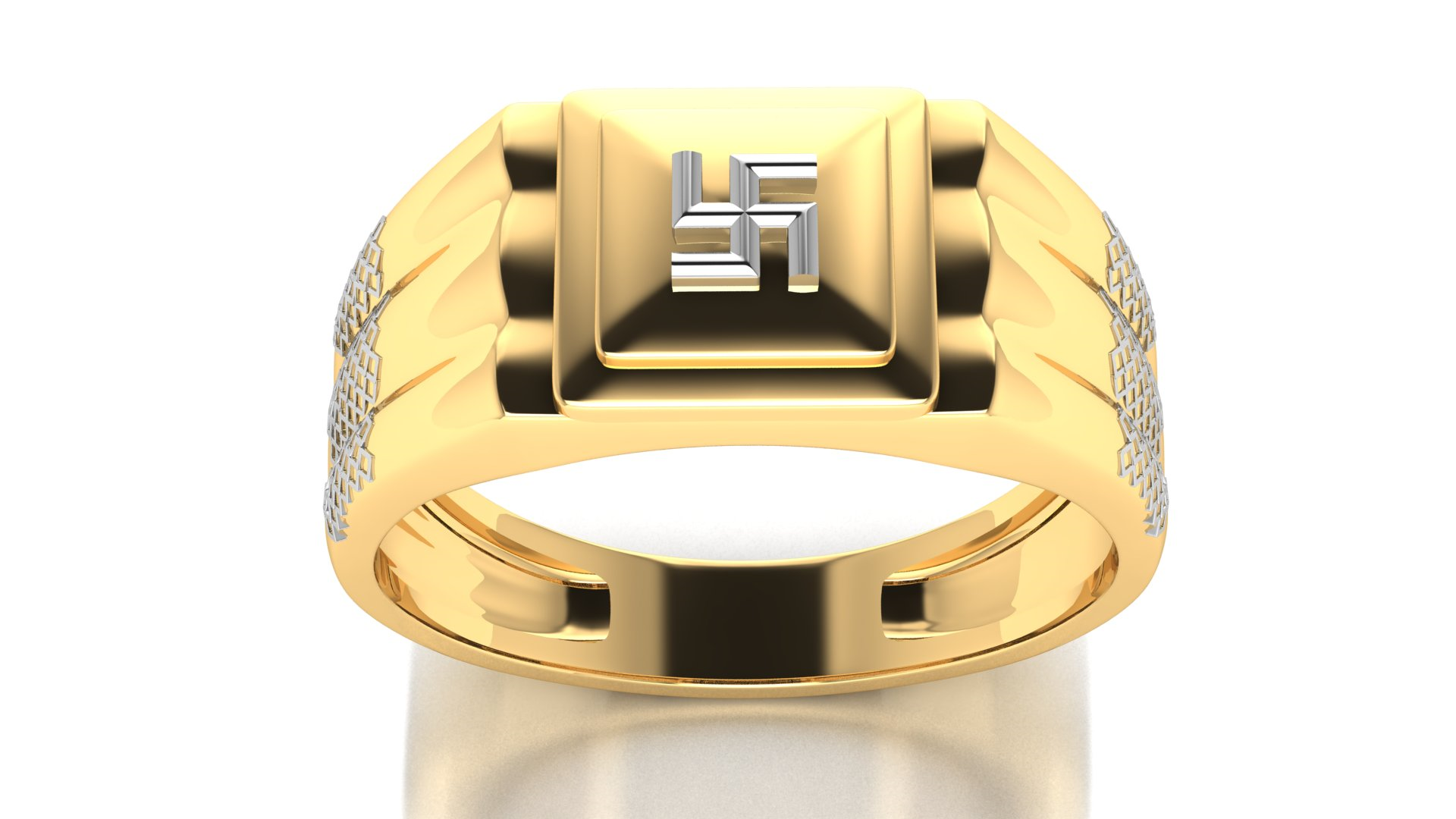 Gold Designer Engagement Ring for Men