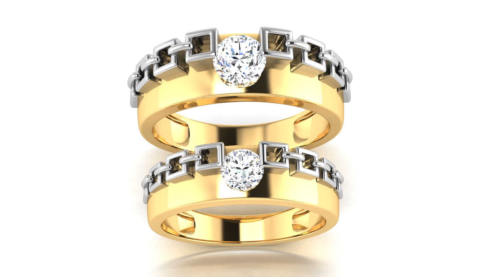 18 & 20 Carat Gold Couple Ring Online