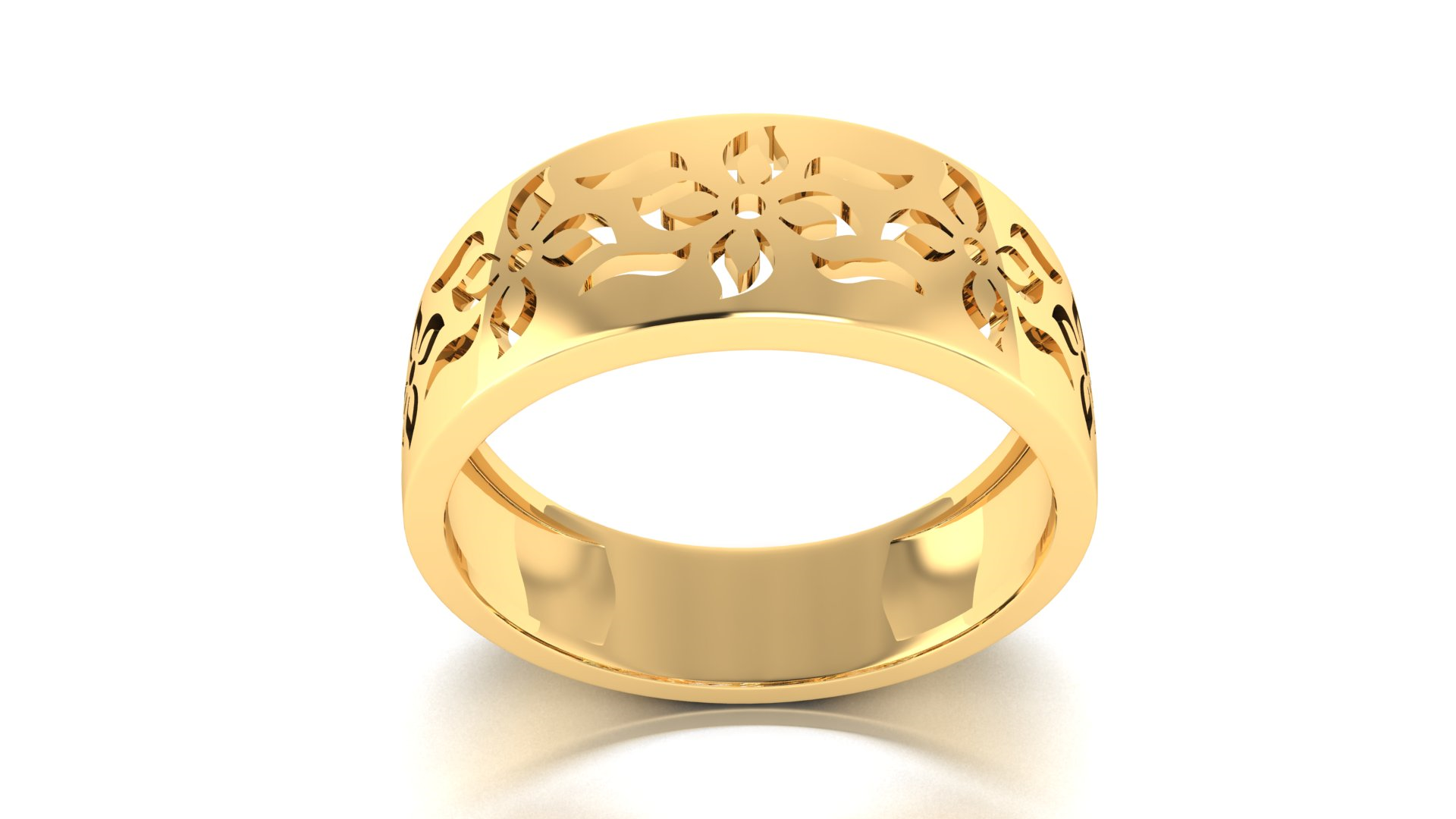 Traditional Cut Design Ladies Ring