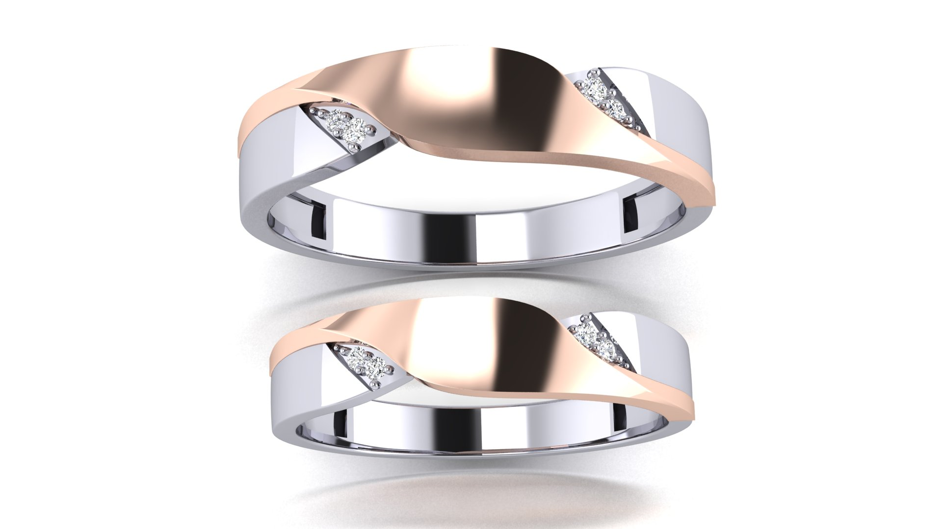 Latest Design Couple Ring in Diamond