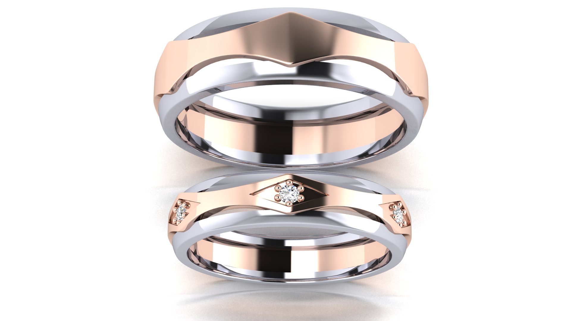 Engagement Special Silver Couple Ring