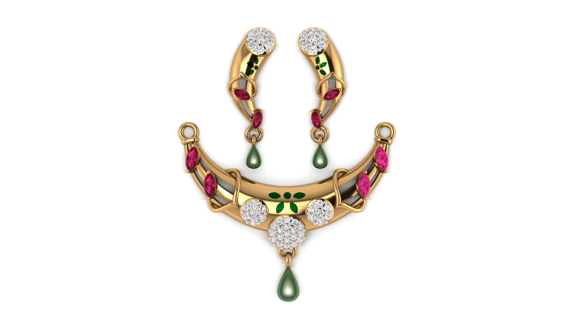 Studded Diamond Mangalsutra for Women