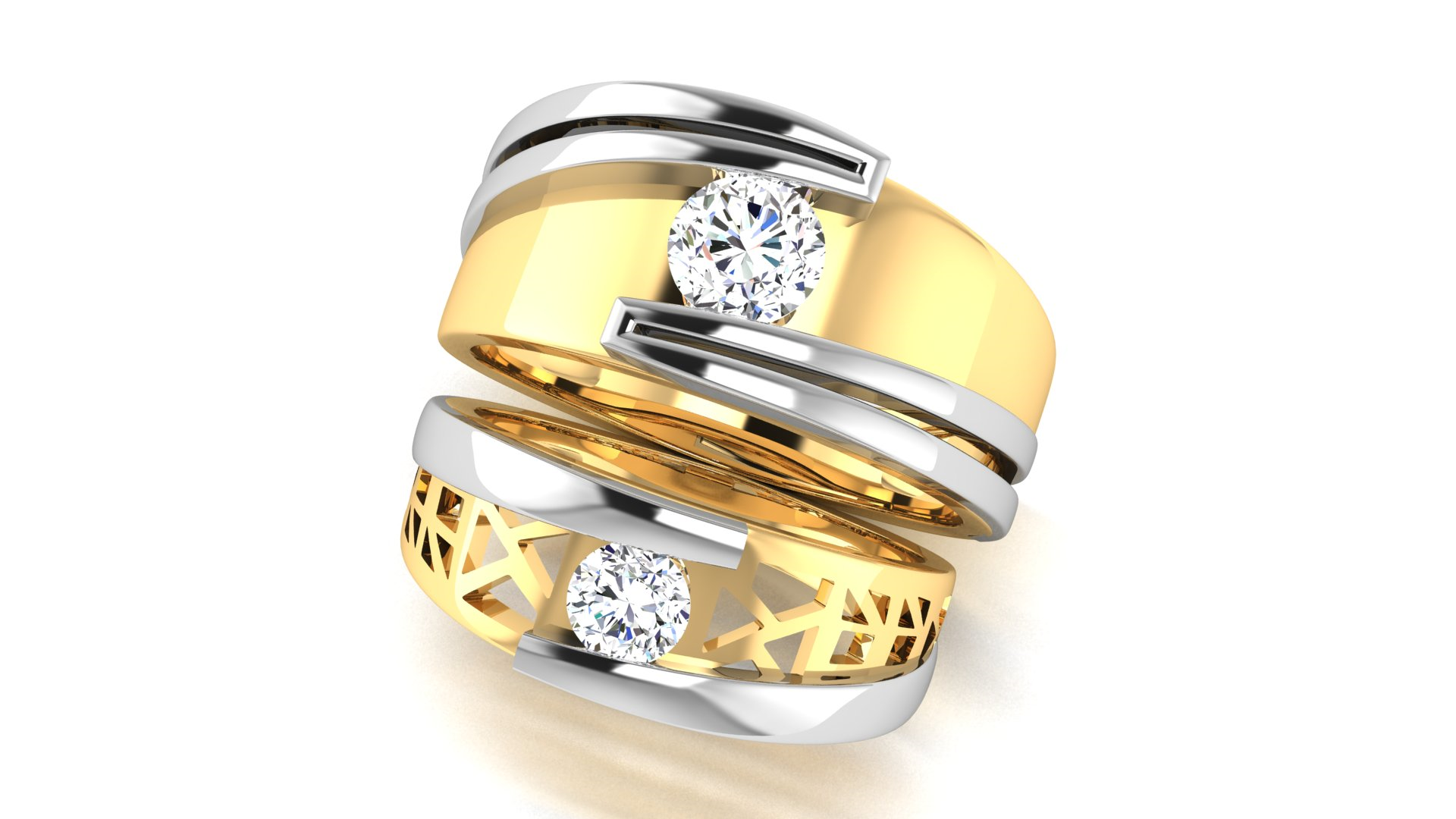 Stylish One Diamond ring for man and Women