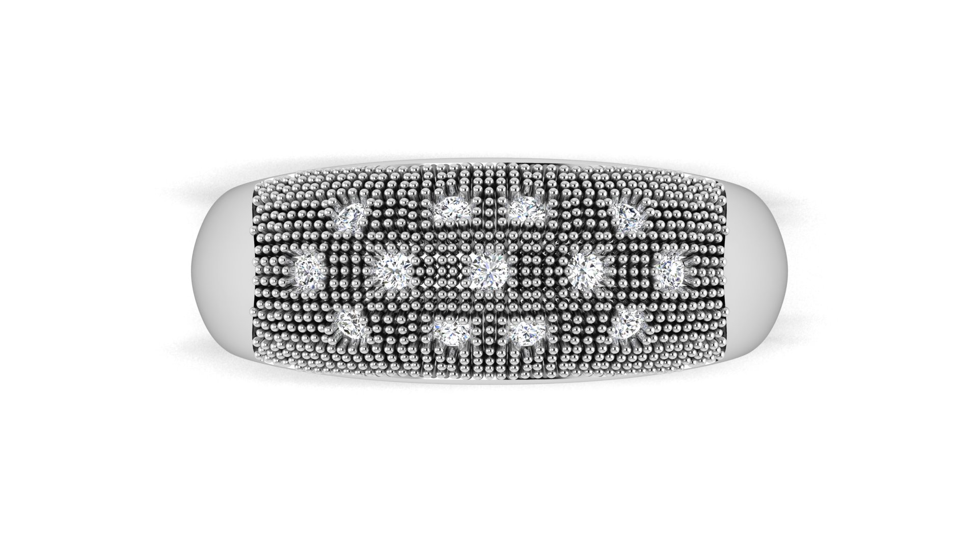 Dotted Design Diamond Ring for Men