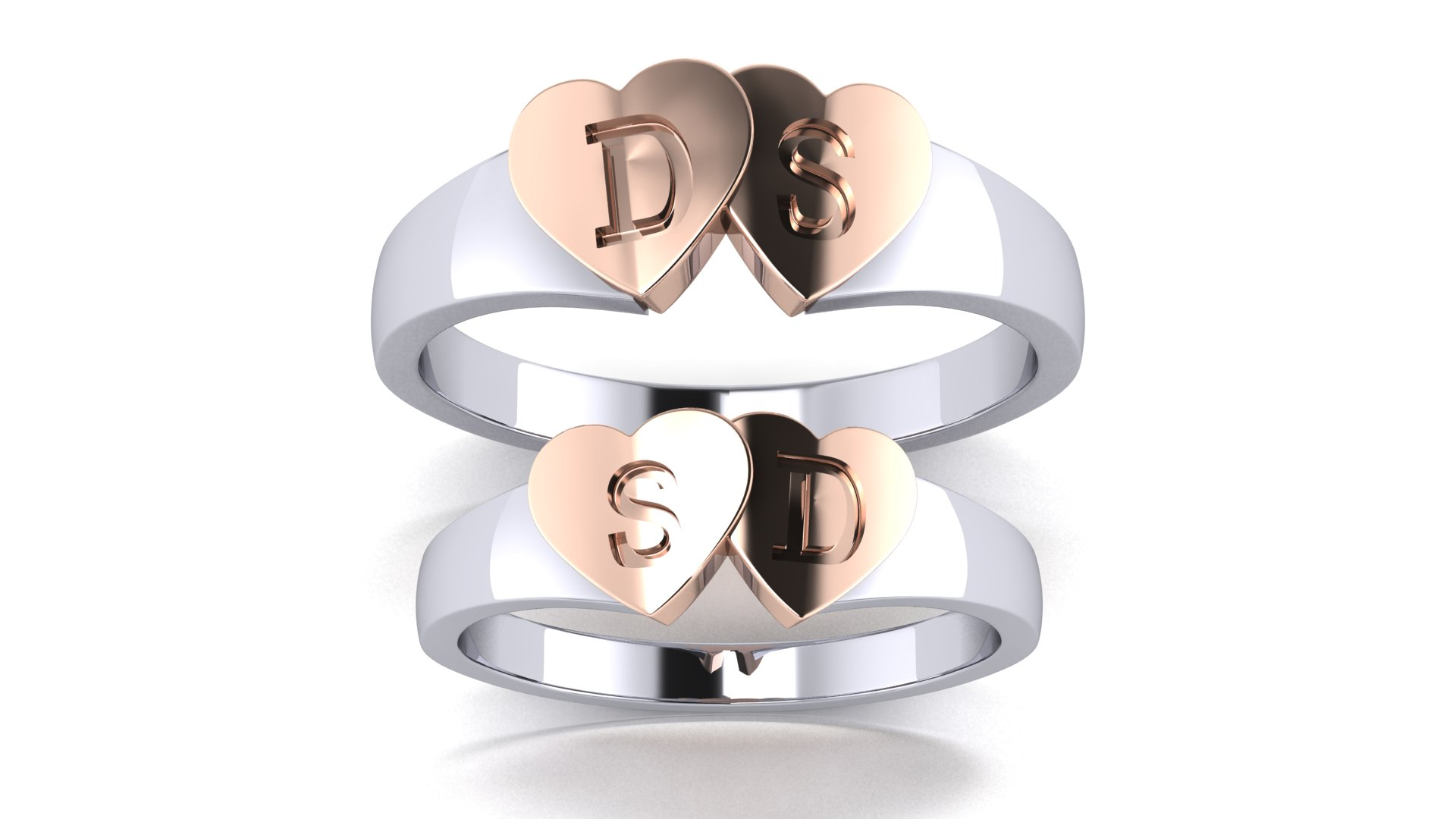 Customized Character Ring for Couple Engagement