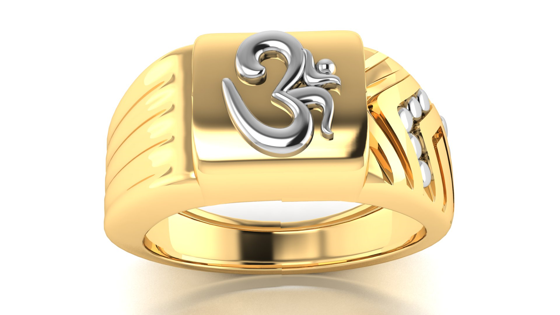 Om Symbol Gold Ring for Men