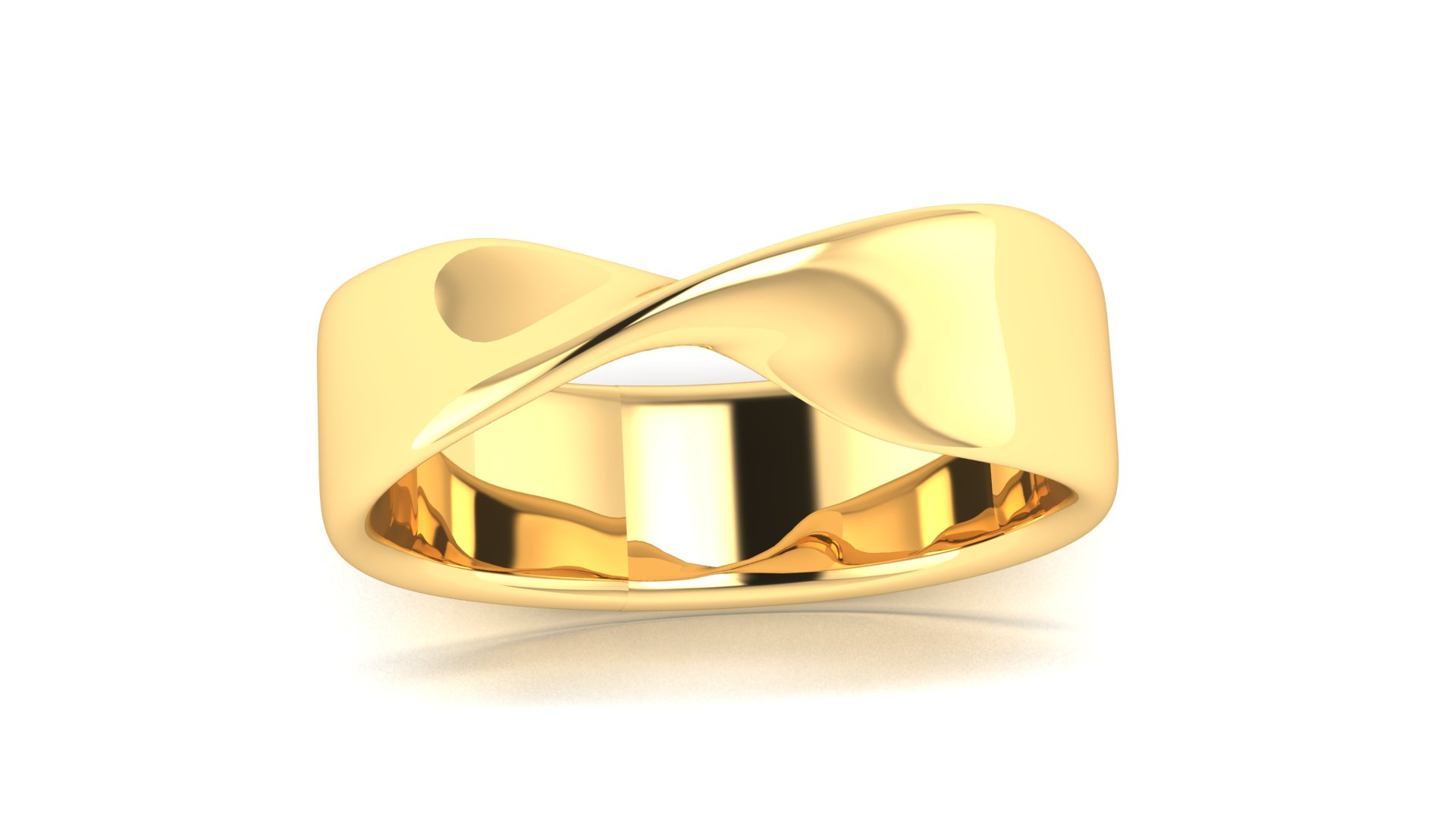 Simple Gold Ladies Ring for Daily Wear