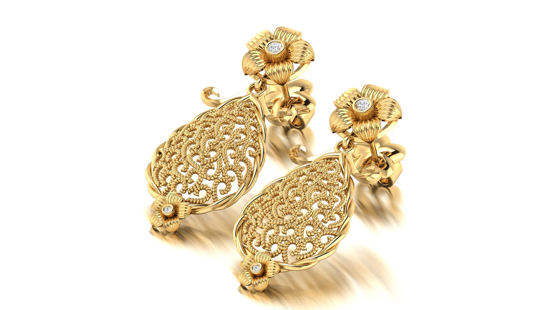 Wedding Wear Gold Earnings Online
