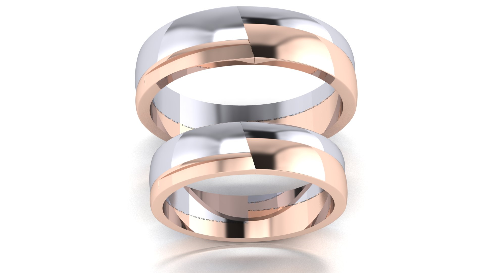 Couple Bands 18 Carat Women Couple Ring